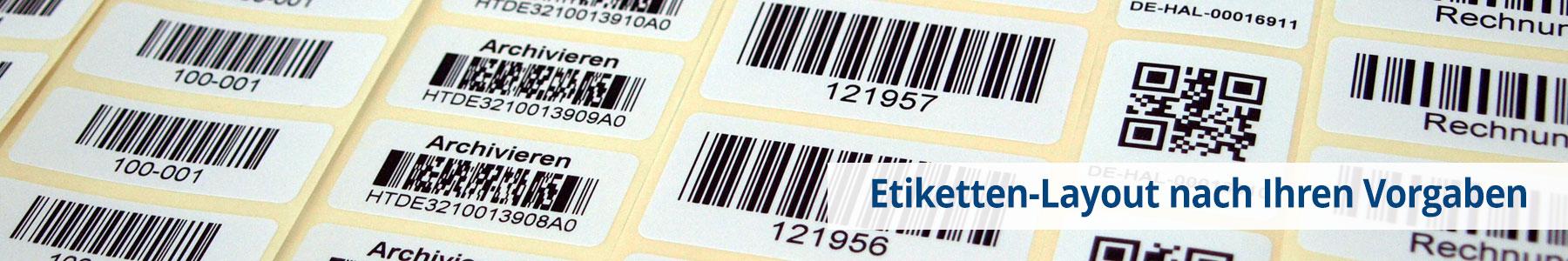 Etiketten-Layout gestalten
