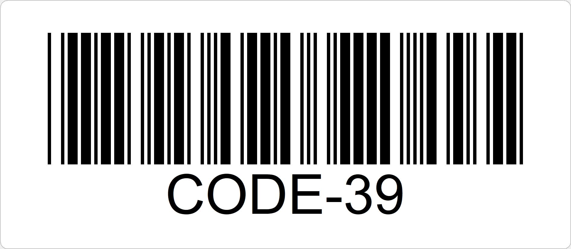 Code-39 ist ein alphanumerischer Code mit geringer Informationsdichte