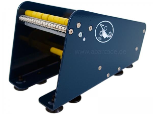 Etikettenspender blau mit 113 mm Nutzbreite, Bild 1