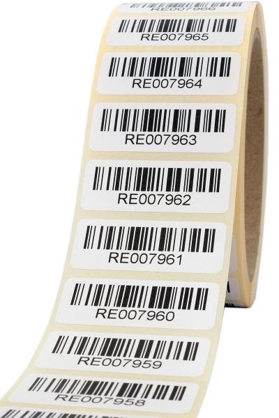 Barcodeetiketten 40x15mm Code128 fortlaufend nummeriert