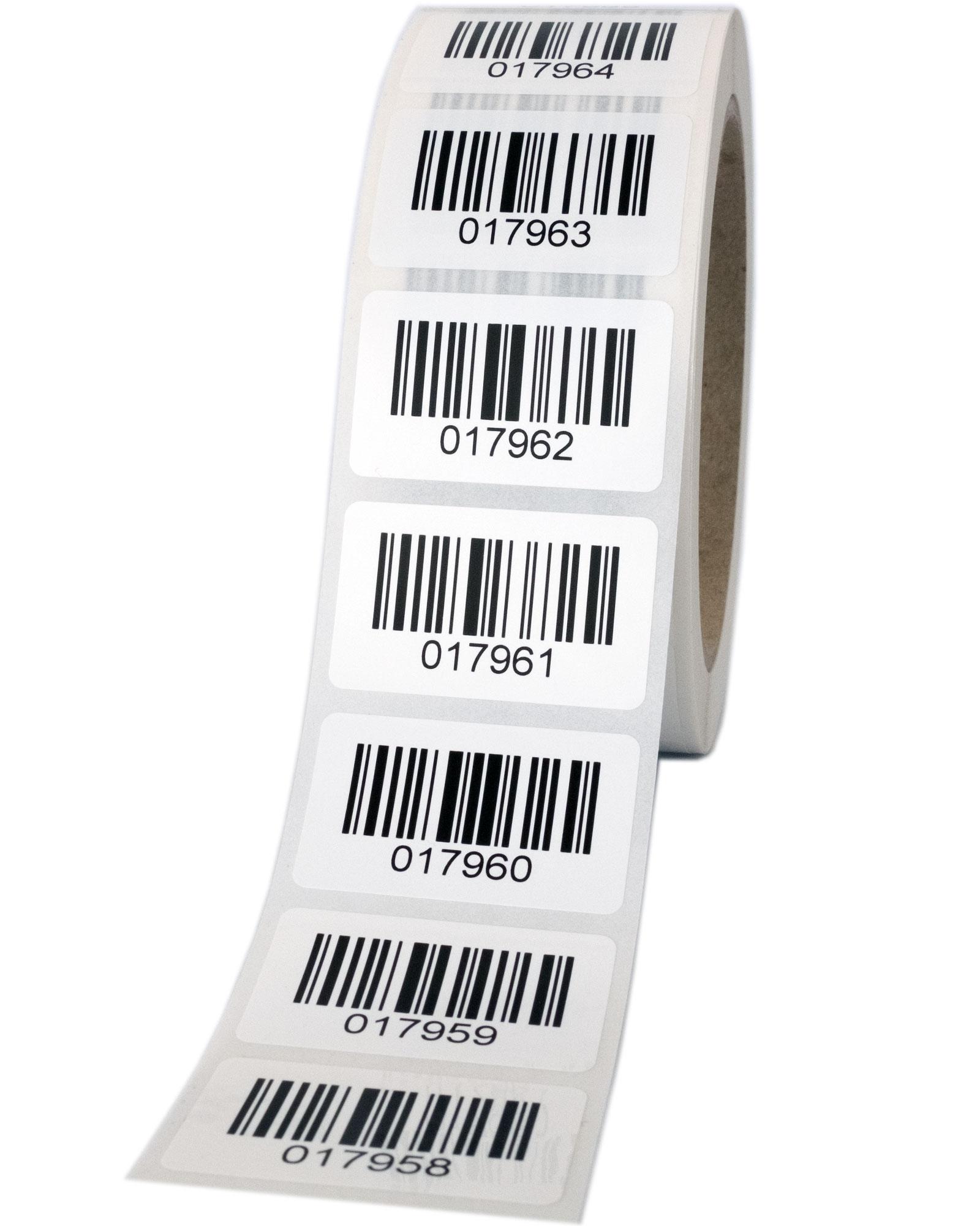 Barcode-Polyesteretiketten (PET)