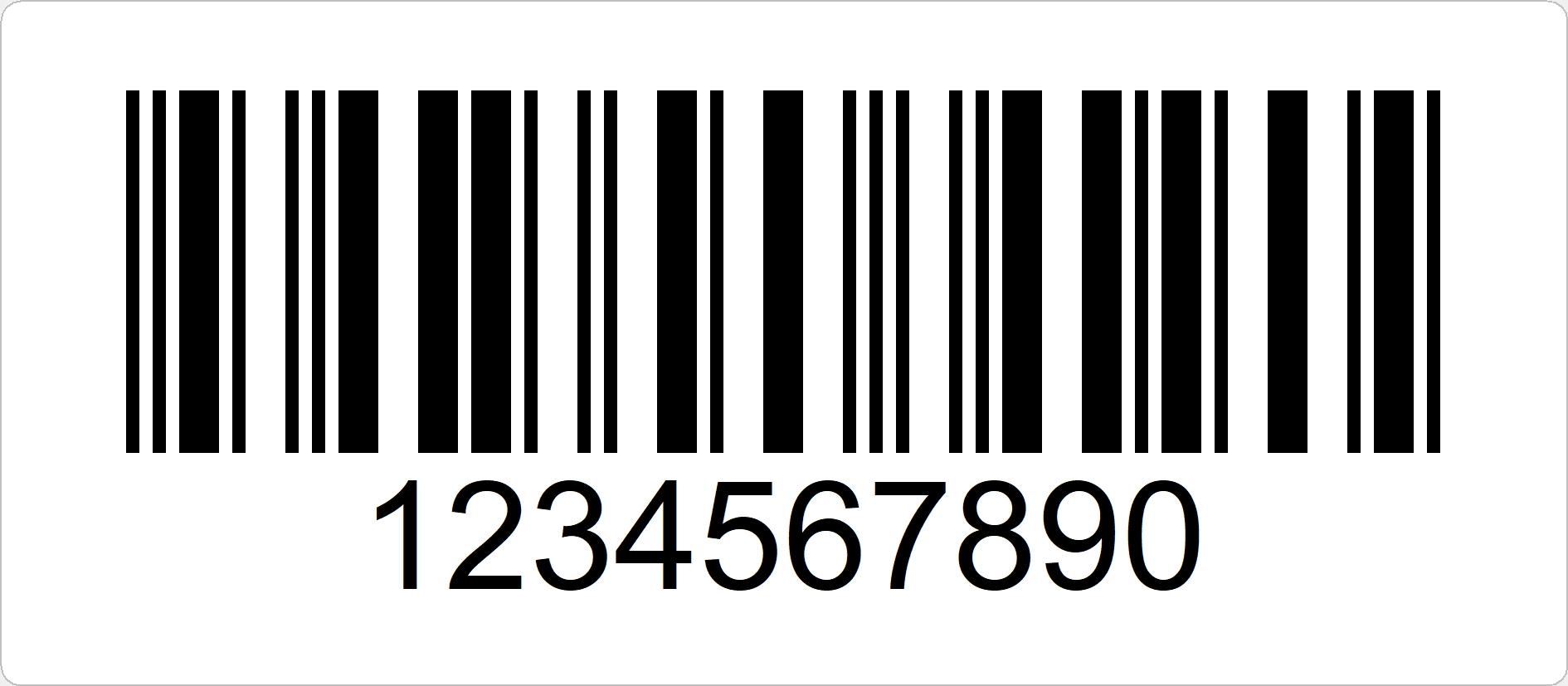Interleaved 2of5 ist ein numerischer Barcode